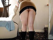 Mature blonde bbw cowgirl loves to give dad blowjobs.