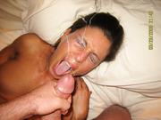 Hot fucking amateur mom big load of spunk jizz on face