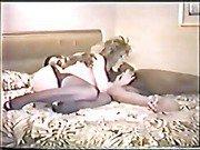 Dirty blonde mom gets her hands on a big black dick in motel bedroom