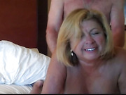 Amateur BBW granny screwed deep in asshole from behind