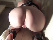 Peach ass wife showing off juicy cunt on film