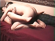 Cute short haired brunette and her guy make homemade porn
