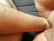 Sex mad girlfriend gets a good fisting close up hand insertion
